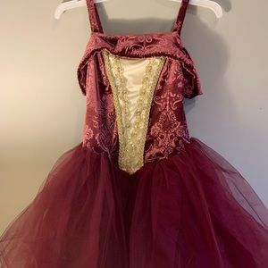 Weissman Garnet, Gold Antique Ballet Costume